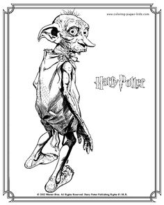 Dobby Harry Potter color page,