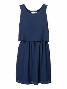 Elegant blue dress from VERO MODA #veromoda #dress #fashion #blue