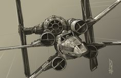 """Close Quarters Combat - TIE VS X WING, Shane Molina on ArtStation at https://www.artstation.com/artwork/close-quarters-combat-tie-vs-x-wing"
