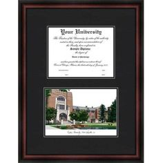 Product Purdue University 7 X 9 Windsor Diploma Frame