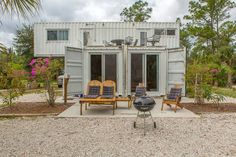 Other in Jupiter, United States. Besides being the only shipping container in South Florida up cycled to accommodate up to 8 guests guests, it is located on the headwaters of The Wild and Scenic Loxahatchee River across from a 1,000 acre County Park. Come explore!  Price includes... - Get $25 credit with Airbnb if you sign up with this link http://www.airbnb.com/c/groberts22