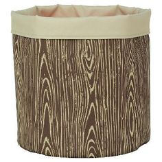 Reversible Canvas Floor Bin Round Woodgrain - Pillowfort™