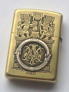 Aztec & Ouroboros Engraved Lighter