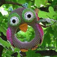 Вязание крючком сова погремушка картины по VendulkaM на Etsy