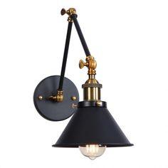Nástenná historická lampa Provence v čiernej farbe je luxusné svietidlov historickom štýle. Svietidlo je vhodné ako prisvetlenie k stolíku (2) Vintage Country, Retro Vintage, Wall Lights, Ceiling Lights, Living Room Shop, Eye Protection, Living Room Lighting, Sconce Lighting, Downlights