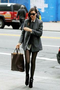 Miranda Kerr looking preppy, very classy!