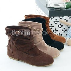 Women's Wedge Heel Fashion Boots Ankle Boots (More Colors) - USD $ 23.74