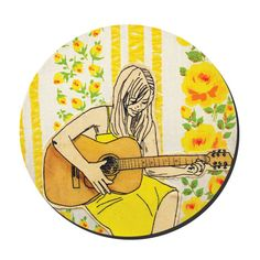 {Guitar Girl Embroidery Pattern} from lucyjackson