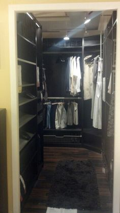 Closet organization at ikea