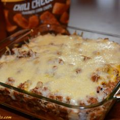 Bake all the taco flavor you love into this Taco Bake with flavorful toppings. Also known as Walking Tacos or Frito Pie, this tasty dish is a crowd favorite Cooking App, Cooking Recipes, Beef Recipes, Easy Cooking, Chicken Recipes, Chicken Dips, Cooking Ideas, Yummy Recipes, Cake Recipes