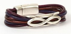 Mulberry 3mm Round Leather Bracelet - Go to Antelope Beads to see all project components.