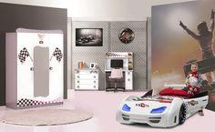 Autobett Komplettzimme rGran Torino GT999 - Der Traum für jeden kleinen Rennfahrer!
