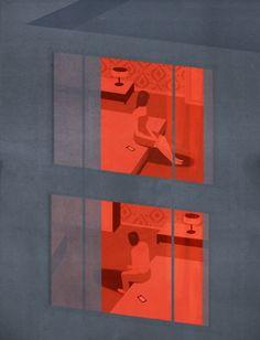 La Belle Illustration: Emiliano Ponzi, Loneliness in times of social networks, La Repubblica, aout 2014 Illustration Design Graphique, Art Et Illustration, Inspiration Art, Art Inspo, Art Adventure Time, Art Design, Illustrations And Posters, Vector Art, Graphic Art