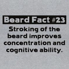 Beard Fact 23 Funny Men's T-shirt Geek Nerd Humor Beard Quote Novelty Tee Shirt #LimpinLarrysTshirts #GraphicTee