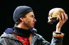 Doctor examines skull