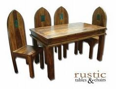 Jali Collection Gothic Dining Table And Chairs  Perfect For A Breakfast Nook