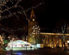 Christmas church, city Enschede (Oude Markt)