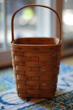1980's Vintage Farmhouse Longaberger Basket Patina Classic Primitive Rustic Hand…