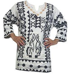 Decoraapparel Mens African Dashiki Shirt Mudcloth Organic Cotton Vintage Hippie Top Blouse One Size African Shirts For Men, African Women, Blouse Vintage, Vintage Tops, African Dashiki Shirt, Hippie Vintage, Top Boho, Style Tribal, Wrap Around Dress