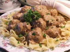 Swedish Meatballs.  Can't wait to try.  Going the easy way though with  frozen meatballs, and using the sauce recipe...