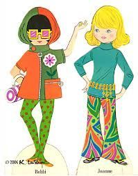 1960s paper doll - Google Search | Paper Dolls | Pinterest
