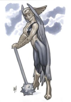 Hawkgirl statue design for DC Direct, from my Statue Designing Era. I'm old - I have eras.  #fromthevault pic.twitter.com/NUWsW7TUTI