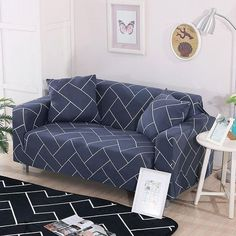 New Popular Elastic Sofa Cover for Living Room Furniture Armchair Cover Stretch Couch Cover Case Sofa Slipcover Seater Two Seater Couch, Sectional Couch Cover, Couch Covers, Cushions On Sofa, Pillows, Cushion Covers, Slipcover Sofa, Printed Sofa, L Shaped Sofa