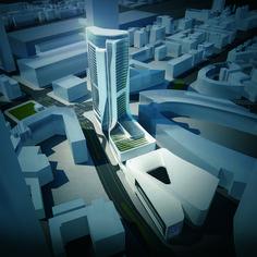 Grand Hyatt Hotel (Concept Built in January2014) by UNStudio - Ben van Berkel and Caroline Bos / Frankfurt, Germany