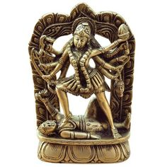 Amazon.com: Kali Figurine Brass Religious Sculpture: Home & Kitchen