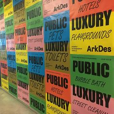 """Communication materials for the great new summer exhibition """"Public Luxury"""" at Arkdes. Opens today! Together with Europa. @arkdesc…"""