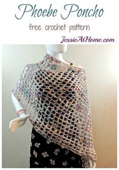 Phoebe Poncho - quick and easy summer #crochet pattern! by @jessieathome
