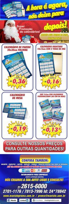 Calendários 2013 e imãs de geladeira com calendário, a hora é esta!