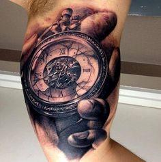 Clock tattoo. Gorgeous detail.