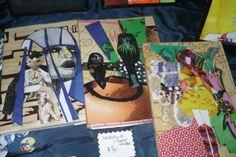 cuadernos con tapas ilustradas.