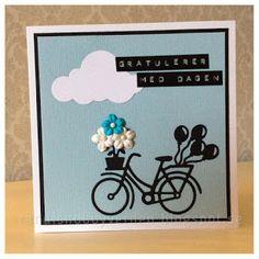 Randis hobbyverden: Bursdagskort med sykkel