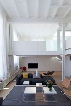 open space living room where rooms flow into the next
