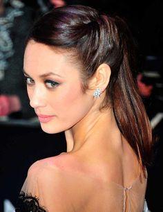 Twists or plaits back into ponytail - Olga Kurylenko