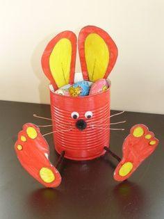 Lapin de Pâques en boite de conserve