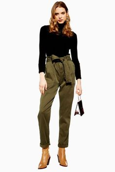 33bd6c9a45698 9 Best paperbag waist trousers images | Paperbag waist trousers ...