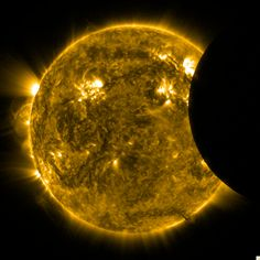 Partial solar eclipse shot by NASA's Solar Dynamics Observatory.