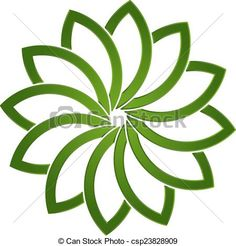 Vector Clipart of Lotus green plant logo csp23828909 - Search Clip Art, Illustration, Drawings and Vector EPS Graphics Images