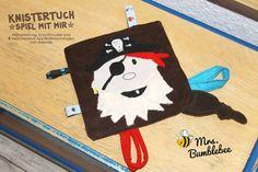 Knistertuch -Spiel mit mir- Nähanleitung, Schnittmuster und Applikationsvorlagen von shesmile genäht von Mrs. Bumblebee