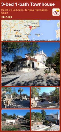 Townhouse for Sale in Raval De La Leche, Tortosa, Tarragona, Spain with 3 bedrooms, 1 bathroom - A Spanish Life Andorra, Valencia, Barcelona, Entrance Gates, Townhouse, Terrace, Swimming Pools, Spanish, River
