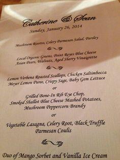 menu style, style idea, dinner menu, cater idea, parti idea, recept idea, wedding menu