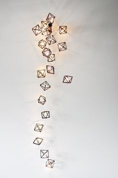 Himmeli Miniature Light Strand // Geometric Sculpture
