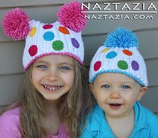 Crochet Birthday Party Hats for Babies Children by Donna Wolfe from Naztazia