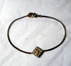 Vintage Rhinestone Goldtone Bracelet 7.5