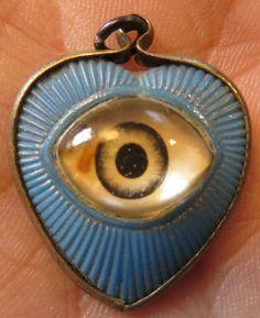 RARE Vintage All Seeing Eye Glass Lucite Brass Heart Charm Pendant Illuminati Unusual Jewelry, Eye Jewelry, Antique Jewelry, Vintage Jewelry, Lovers Eyes, All Seeing Eye, Love Symbols, Heart Charm, Charmed