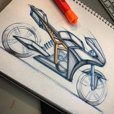 Added a bit of shade to the motorcycle sketch I did a few days ago.  #retro #transportationdesign #moto #motodesign #caferacersofinstagram #dropmoto #caferacerxxx #transportdesign #motorcycledesign #industrialdesign #idsketching #bikeconcept #bikedesign #caferacer #retrostyle #designdrawing #designsketching #croig #sketchaday #motorcyclesofinstagram #designwork #designdaily #sportbike #alferezdesign