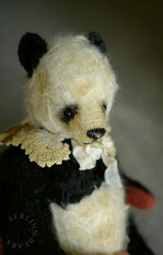 Second Wish One Of a Kind Mohair Panda Styled by aerlinnbears, $280.00